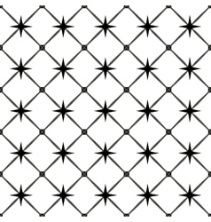Star and square seamless pattern vector image