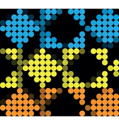 Dotted template vector image