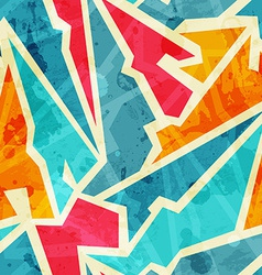 grunge graffiti seamless pattern vector image vector image