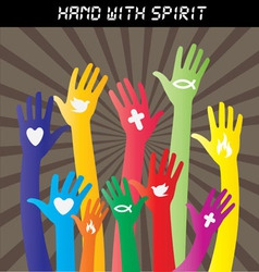 Hand sign collections vector