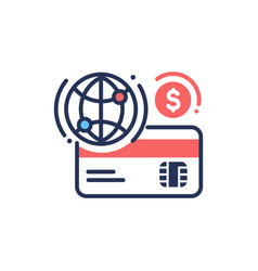 internet banking - modern line design icon vector image
