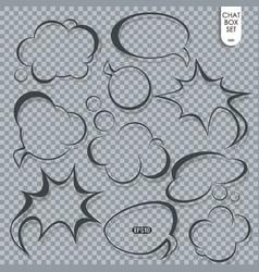 speech bubble set thought or dream cloud talk vector image