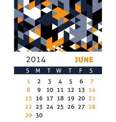 Calendar 2014 vector image vector image