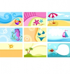 travel card vector image vector image