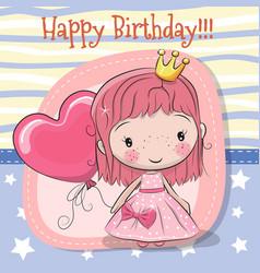 cute cartoon fairy tale princess vector image vector image