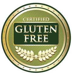 Gluten free green label vector