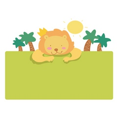 lion page vector image