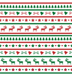 Seamless Christmas background21 vector image vector image