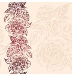 abstract floral blooming rose branch background vector image