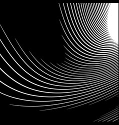 Abstract monochrome graphics with spirally shape vector