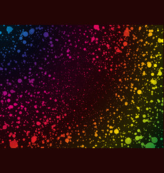abstract rainbow color dots background vector image