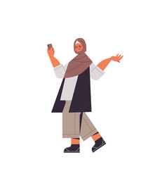 Arabic woman in traditional clothes arab smiling vector