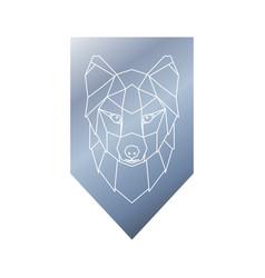 arctic fox polygonal head sign vector image vector image