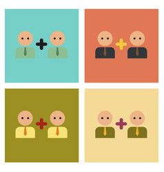 Assembly flat icons gay family vector