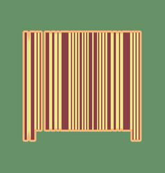 Bar code sign cordovan icon and mellow vector