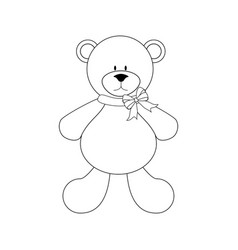 Bear toy vector