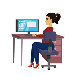 beautiful business woman at vector image