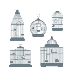 Birdcages Set vector image