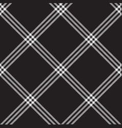 Black white check plaid fabric texture seamless vector
