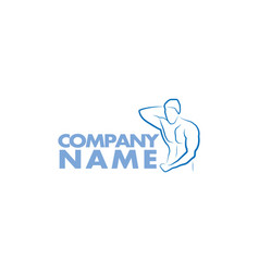 bodybuilder logo template vector image