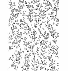 branches flowers monophonic pattern on a vector image