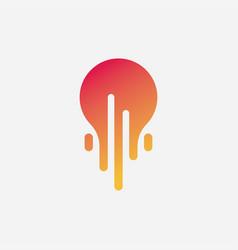 bulb logo vector image