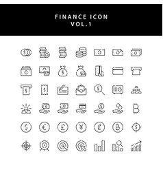 business and finance icon outline set vol 1 vector image