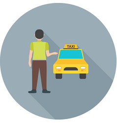 Calling cab vector