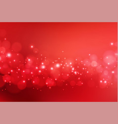 christmas abstract red background with bokeh light vector image