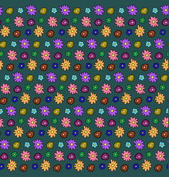 colorful flower pattern vector image