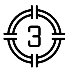 Countdown movie icon outline style vector