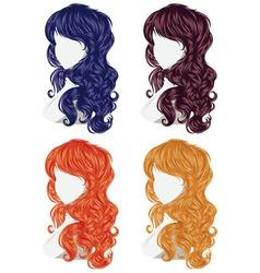 Curly hair style2 vector