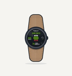 Digital watch call vector