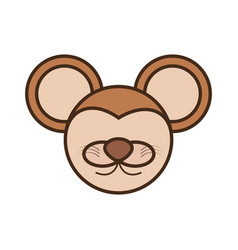 Face mouse cartoon animal vector