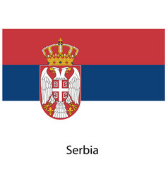 flag of the country serbia on white background vector image