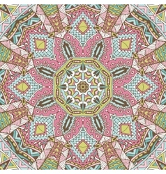 Geometric kaleidoscopic seamless pattern vector