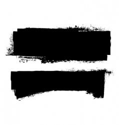 grunge ink banner vector image