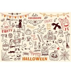 Halloween Set of Design Elements vector