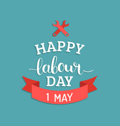 Happy labour day concept with vector