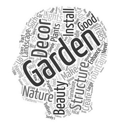 How to Spice Up Your Garden with Decor text vector image