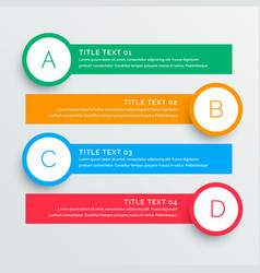 infographics steps banners template vector image