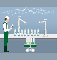 internet of things in agriculture vector image