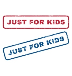Just For Kids Rubber Stamps vector image