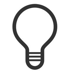 Lamp bulb flat icon vector