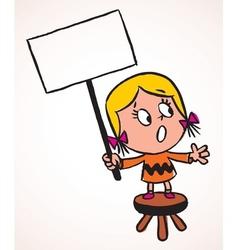 Little protest girl vector