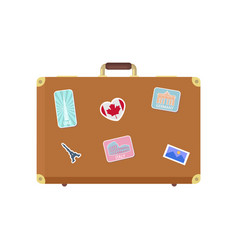 luggage journey for traveler with bag icon vector image