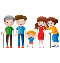 many people in family vector image