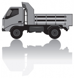 medium trucks vector image