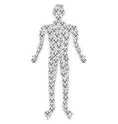 Mining hammers human figure vector