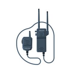 Modern radio transmitter device police car vector
